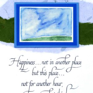 Happiness, Not in Another Place