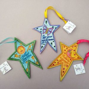 Hanging Stars paper clay