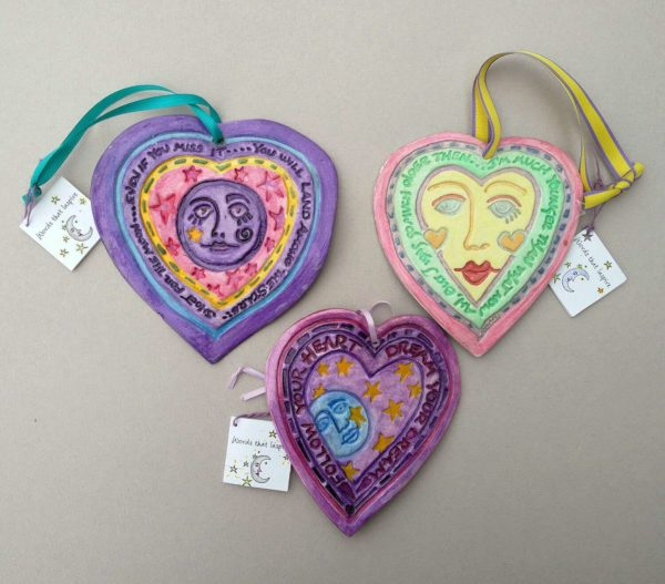 Hanging Hearts paper clay