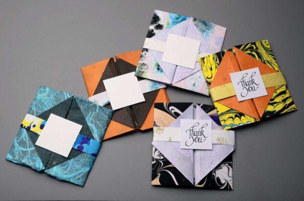 Origami Folded Cards